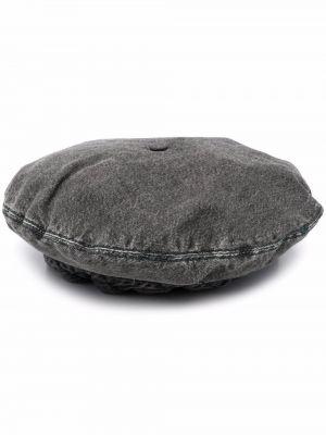 Берет из искусственного меха - серый Ganni