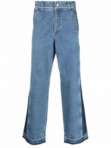 Mom jeans bawełniane - niebieskie Ader Error