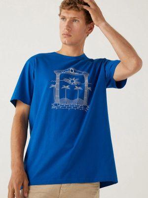 Синяя футболка с короткими рукавами Springfield