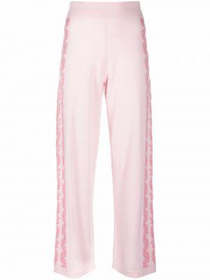 Różowe spodnie bawełniane Barrie