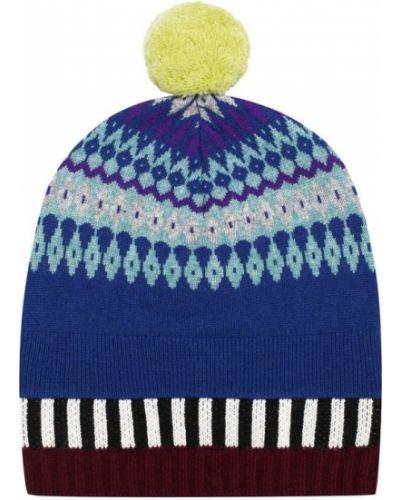 Вязаная шапка с помпоном с узором Burberry