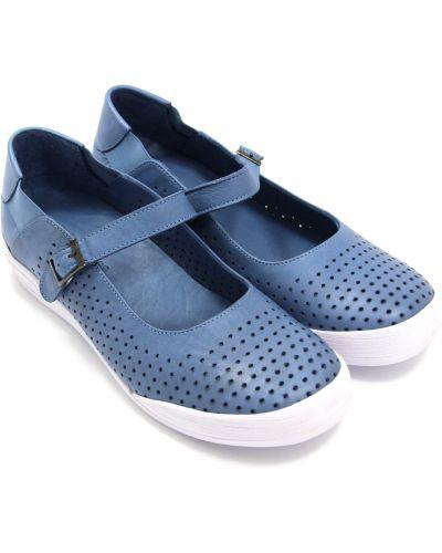 Кожаные сандалии - синие Hush Puppies