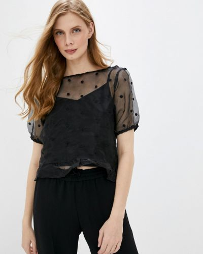 Черная блузка с коротким рукавом с короткими рукавами Pimkie