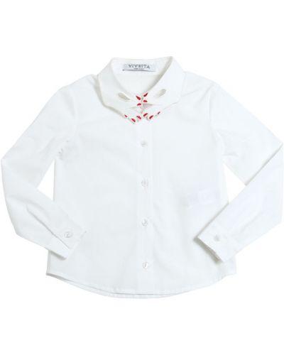 Рубашка из поплина с воротником на пуговицах Vivetta