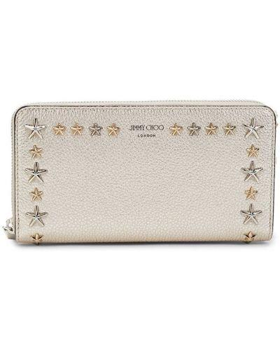 Кожаный кошелек - золотой Jimmy Choo