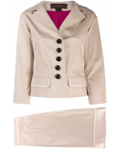 Приталенная прямая юбка мини винтажная с карманами Louis Vuitton Pre-owned