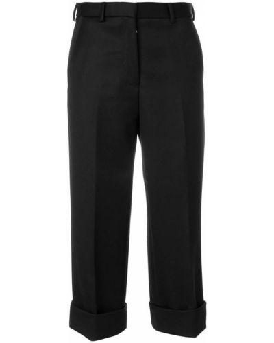 Укороченные брюки прямые со складками Thom Browne