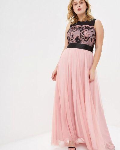 Розовое вечернее платье Juana Jimenez