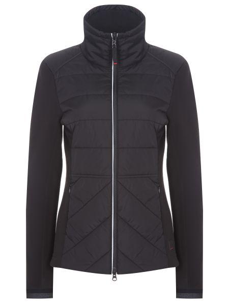 Приталенная комбинированная нейлоновая черная куртка Bogner