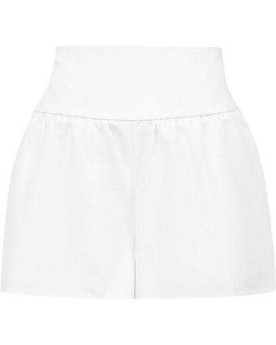 Белые хлопковые короткие шорты Redvalentino