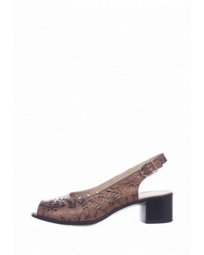 Коричневые кожаные сандалии Cliford