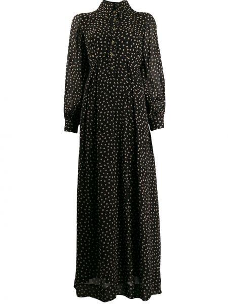 Платье макси в горошек классическое Ganni