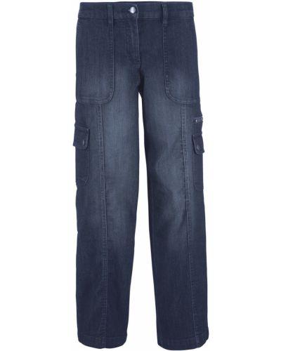 Широкие джинсы темный Bonprix