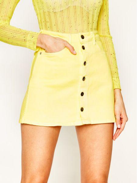 Spódnica jeansowa - żółta Pepe Jeans