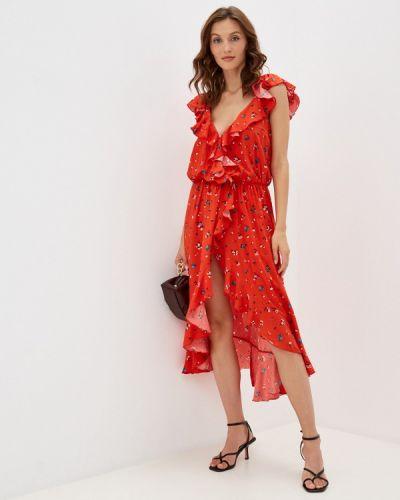 Платье с запахом - красное Gk Moscow