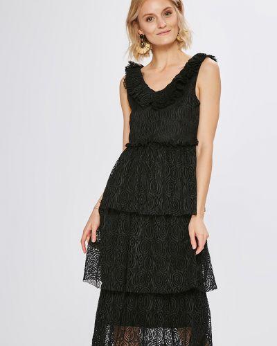 Платье макси прямое с оборками Vero Moda