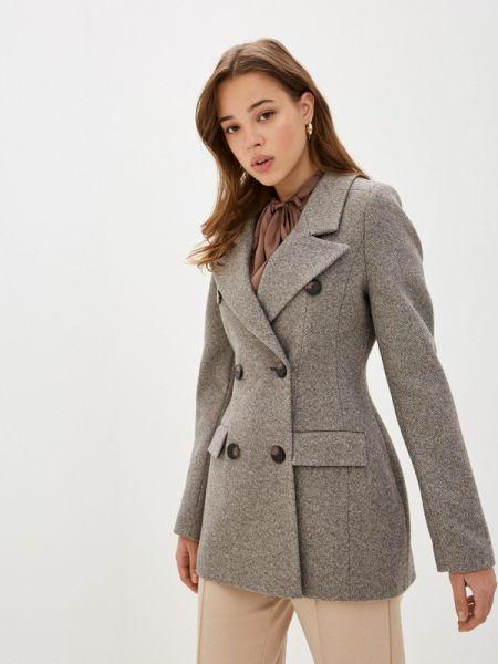 Серое пальто с капюшоном Theone By Svetlana Ermak