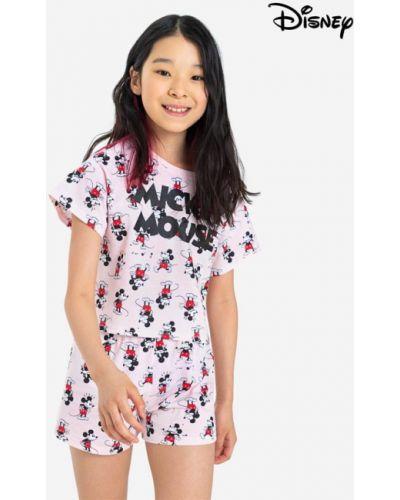 Микки маус пижама - розовая Gloria Jeans