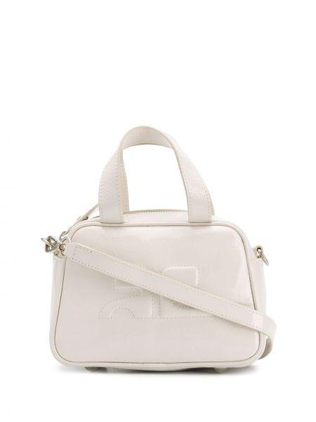 Biała torebka mini skórzana Courreges