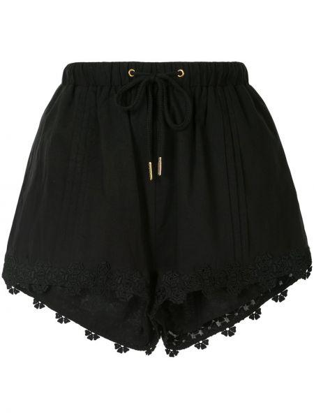 Свободные хлопковые черные шорты We Are Kindred