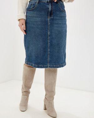 Джинсовая юбка синяя Mossmore