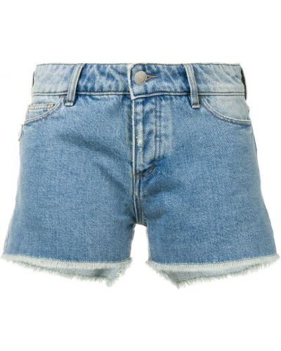Джинсовые шорты с карманами со стразами на пуговицах Zadig&voltaire
