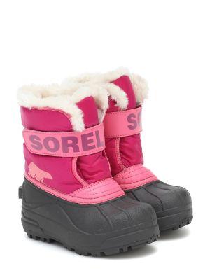 Różowy włókienniczy buty Sorel Kids