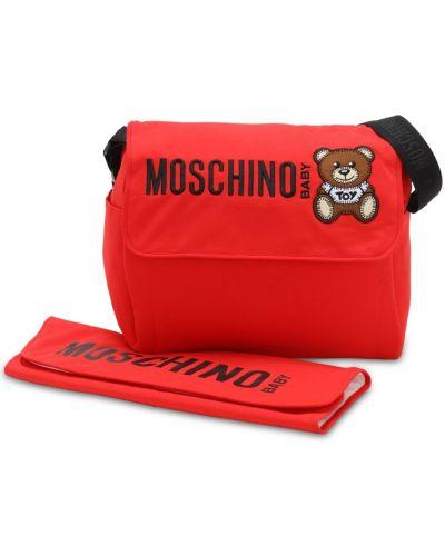 Bawełna nylon torba prążkowany na hakach Moschino