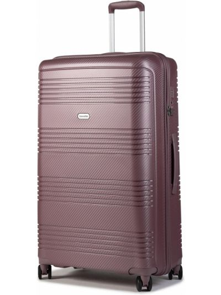 Różowa walizka duża Travelite