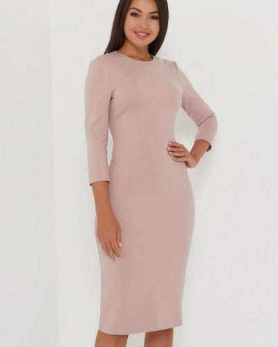 Бежевое платье-футляр A.karina