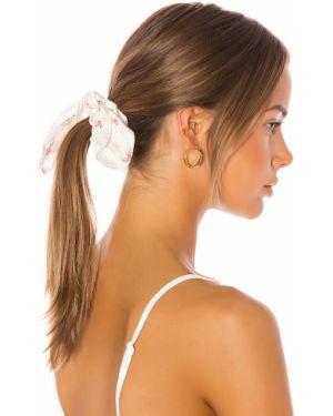 Biały kapelusz elegancki z jedwabiu Loveshackfancy