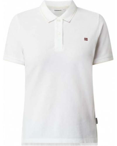 Biały t-shirt bawełniany Napapijri