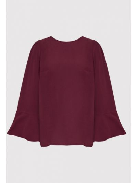 Bluzka bordowa Vero Moda Curve