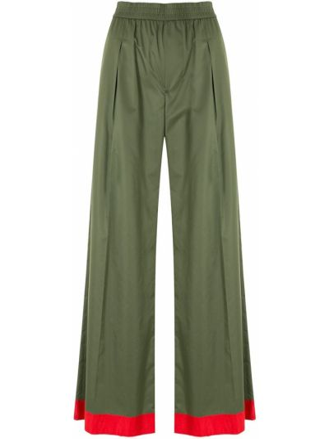 Прямые брюки - зеленые À La Garçonne