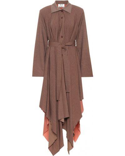 Платье миди осеннее шерстяное Acne Studios