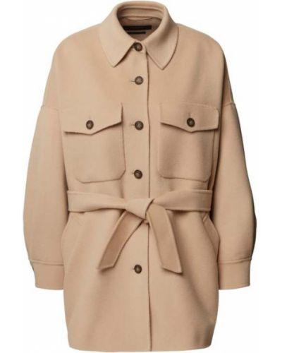 Beżowy płaszcz wełniany Weekend Max Mara