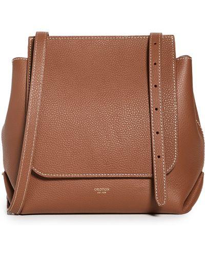 Кожаный ранец с карманами с заплатками Oroton
