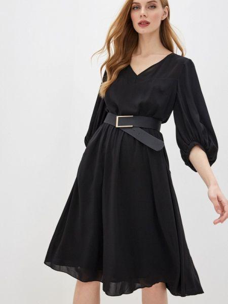 Вечернее платье осеннее черное Argent