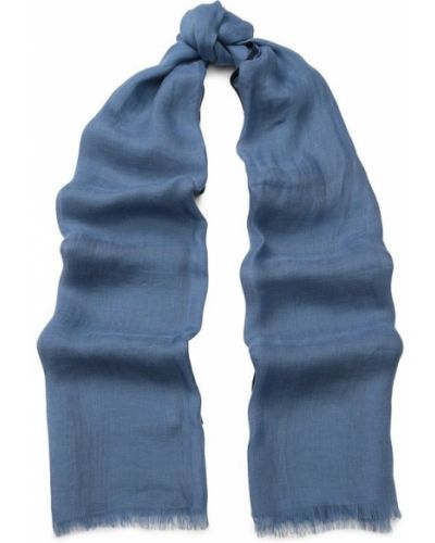 Голубая шаль шелковая Loro Piana