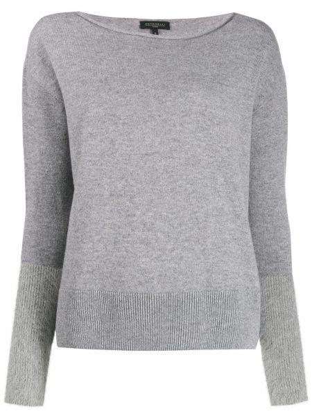 Длинный свитер в рубчик Antonelli