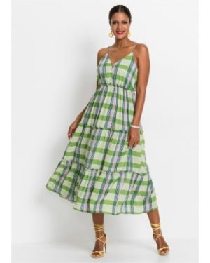 Платье миди на пуговицах длинное Bonprix
