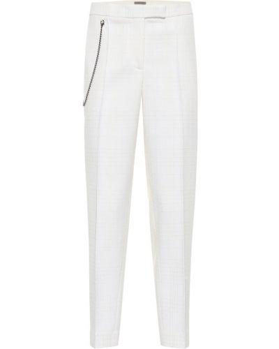 Biały wełniany klasyczne spodnie Bottega Veneta