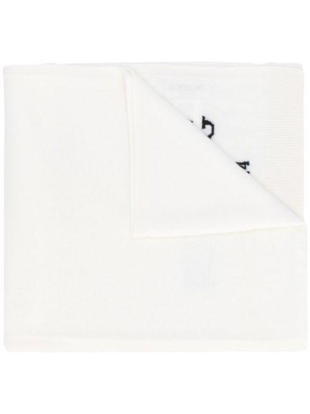 Biały z kaszmiru szalik z printem Iceberg