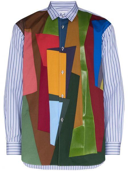 Koszula z długim rękawem w paski z paskami Comme Des Garcons Shirt