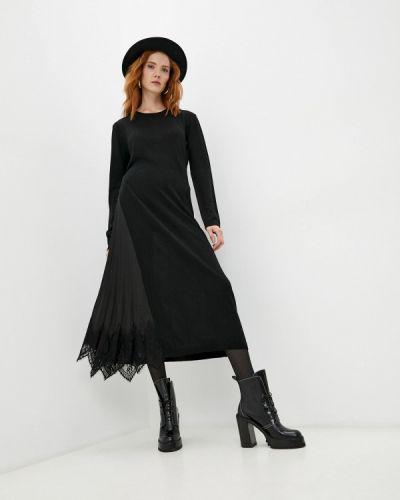 Черное вязаное платье Twinset Milano