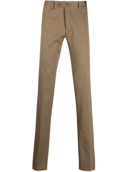 Zielone spodnie z wysokim stanem bawełniane Mp Massimo Piombo