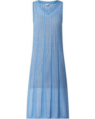 Niebieska sukienka jeansowa rozkloszowana koronkowa Pepe Jeans