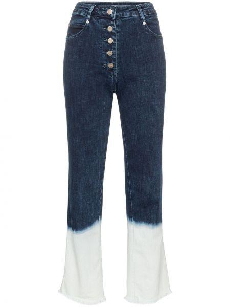 Классические прямые джинсы с карманами на пуговицах Miaou