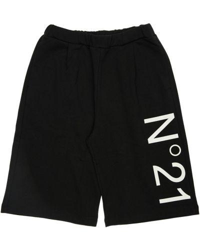 Bawełna czarny szorty na gumce N°21