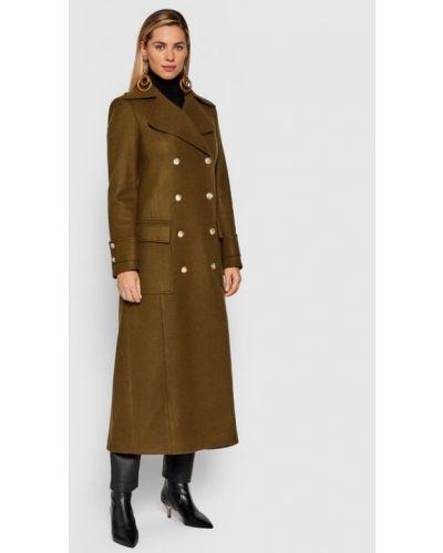 Zielony płaszcz Fracomina